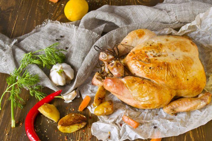 Курица, запечённая в духовке целиком. Пошаговый рецепт с фото - Ботаничка.ru