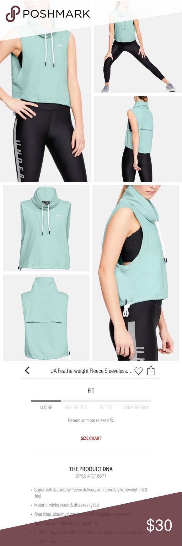 "Under Armour ""Featherweight Fleece Funnel Neck"" Under Armour ""Featherweight Fleece Funnel Neck Vest"" in a mint green color, size small. Brand new release. Paid $55 and only wore once. Under Armour Jackets & Coats Vests"