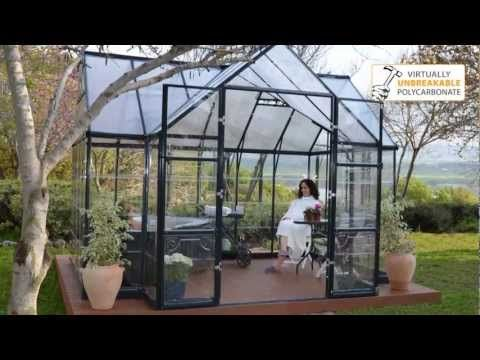 Palram Greenhouse Victory Orangery - Garden Chalet - YouTube
