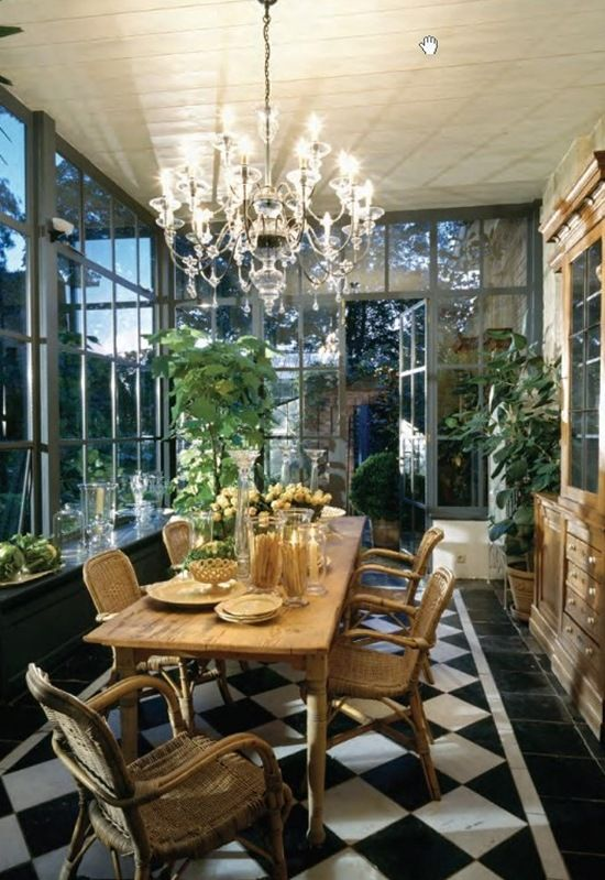 159 best dining rooms images on pinterest dining room for Conservatory dining room design ideas