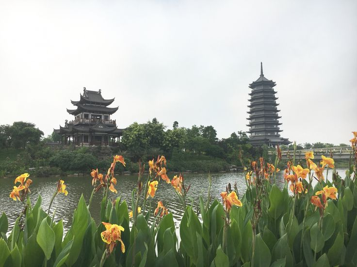 Beautiful day at Five Elephant Lake Park, Nanning, Guangxi
