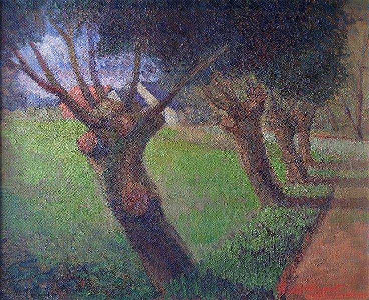Knotwilgen - Olieverf op doek - 60x50 cm