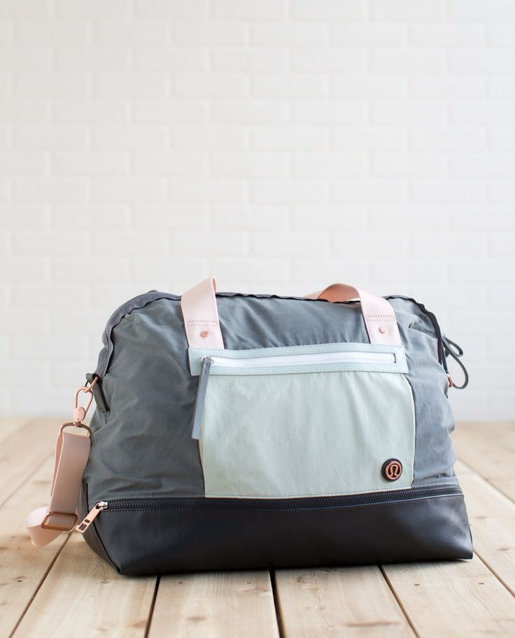 We designed this   roomy duffel to hold all of our getaway gear—from shoes and shampoo to plenty of sweat-wicking tanks, this bag is retreat-ready, just like us.