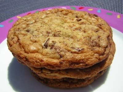 Chocolate Chunk Cookies (from Elizabeth Falkner's Demolition Desserts) --really really good!