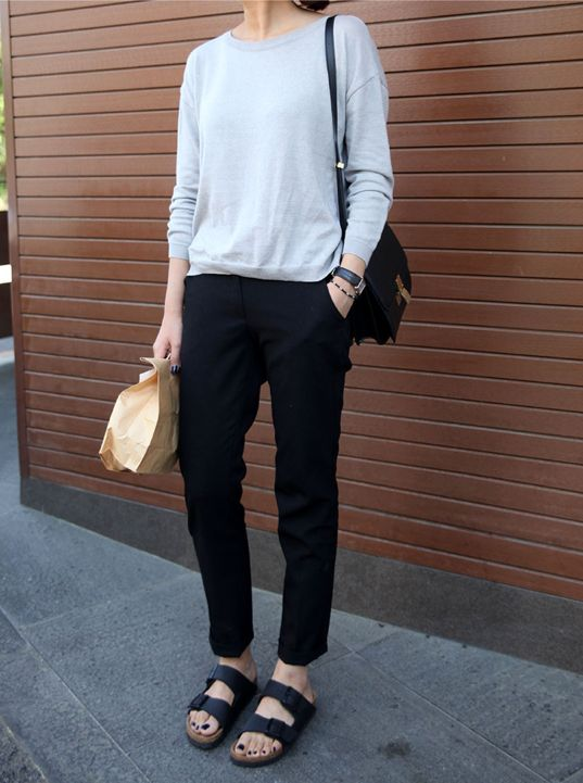 Tomboy silhouette; needs TOMS, penny loafers, or oxfords