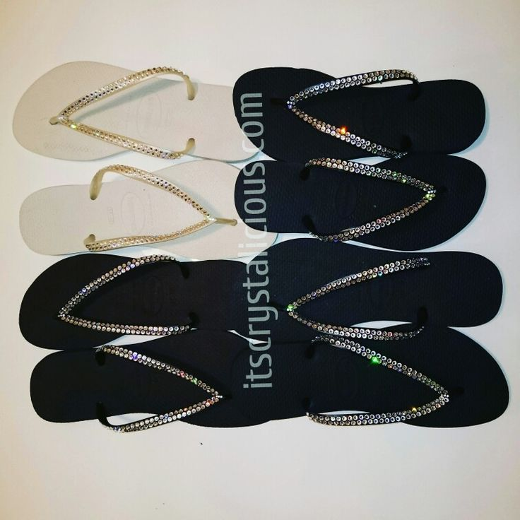 More Crystalicious® SWAROVSKI® embellished havaianas were sent out last week to customers all over the World     www.itscrystalicious.com  www.ItsCrystalicious.etsy.com