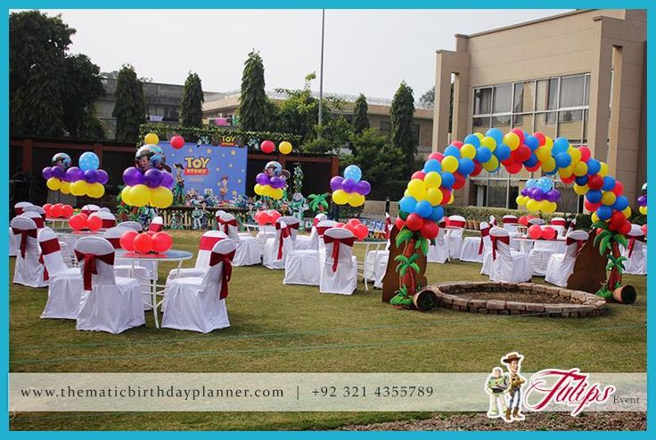 Toy Story Birthday Party Theme Planner in Lahore Pakistan tulips