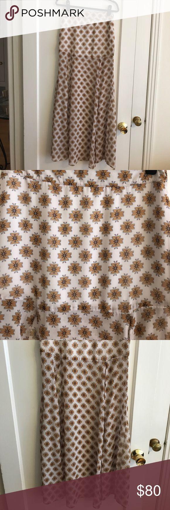 For Love & Lemons Tribal Print Skirt Tribal print original skirt from For Love & Lemons with two front slits on the Maxi For Love and Lemons Skirts Maxi