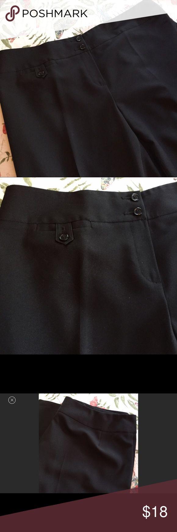 Mark & Spencer women's black dress slacks pants Mark & Spenser dress pants  excellent condition U.K. Size 20 USA size 16 Marks & Spencer Pants