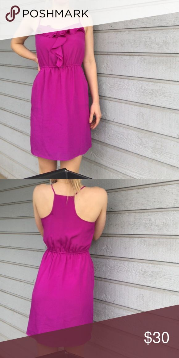 Purple Gianni Bini Purple Gianni bini with fringe and racerback straps. I am 5'7 Gianni Bini Dresses