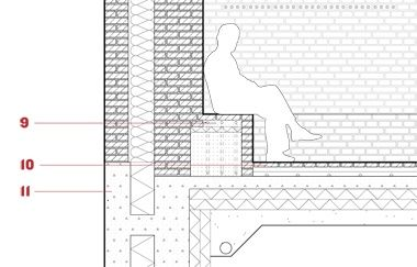 Detail Section Through The Refined Masonry Wall Drwng