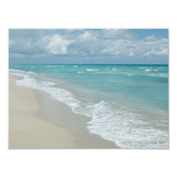 Extreme Relaxation Beach View White Sand Poster Zazzle