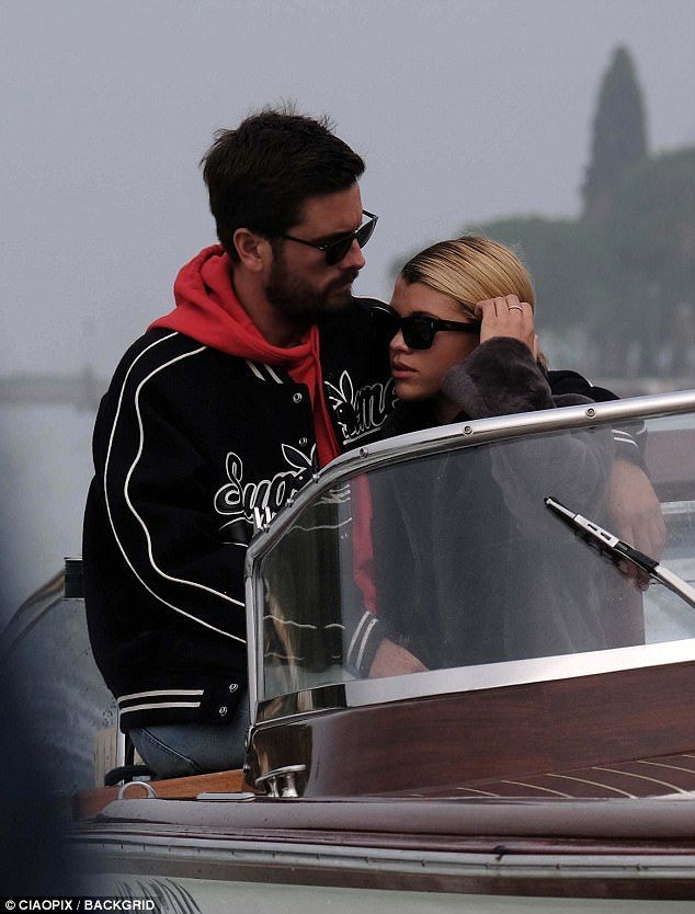Scott Disick picks Sofia Richie's nose in Venice | Daily Mail Online