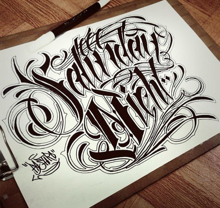 Tattoo Quotes Letter Style: Sketches Chicanos Lettering Style #Sketches #Lettering