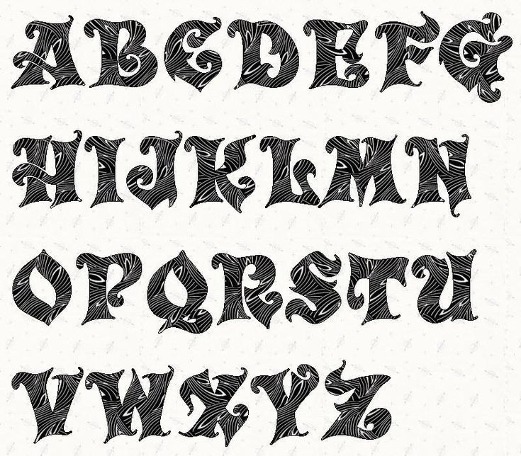 Inch Alphabet Letters Printable Template on decarated medium size,