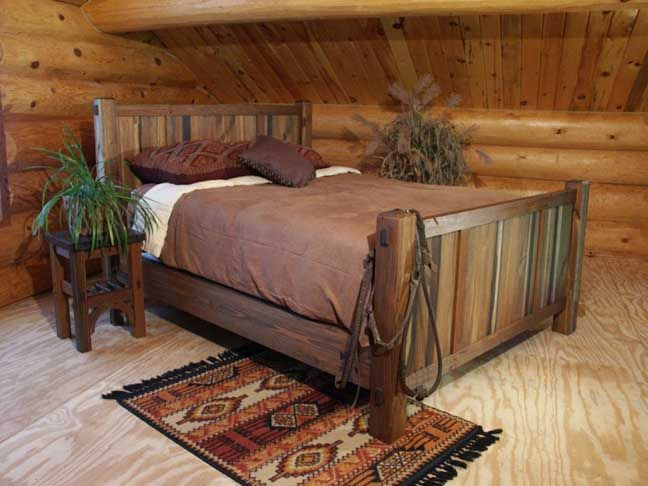 Rustic Lodge Log And Timber Furniture Handcrafted From Green Reclaimed Heart Pine And Northern White