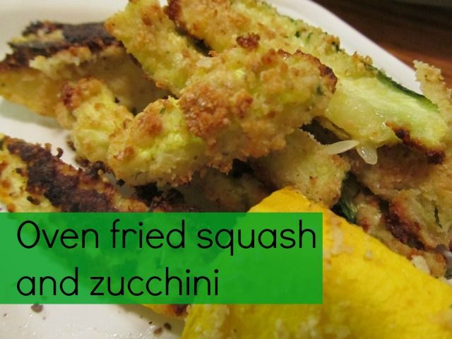 """Oven fried Squash and Zucchini """"fries."""" These are so good!"""