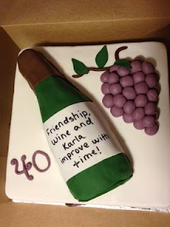 Wine Themed Cake!