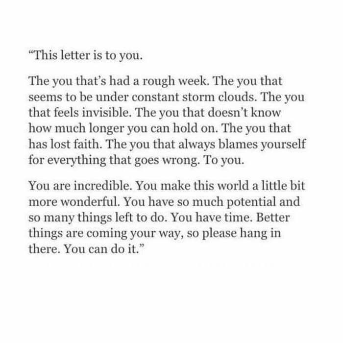 """""""This letter is to you..."""""""