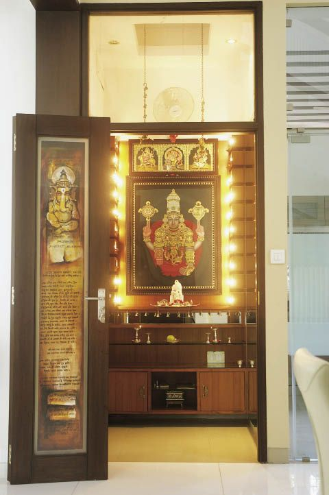 stairs pooja room ideas - Google Search