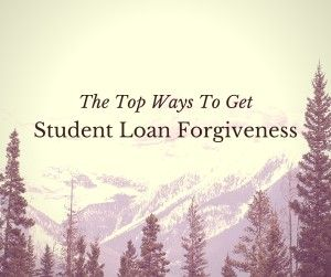 Student Loan Forgiveness- I'll have to look into this when I start teaching
