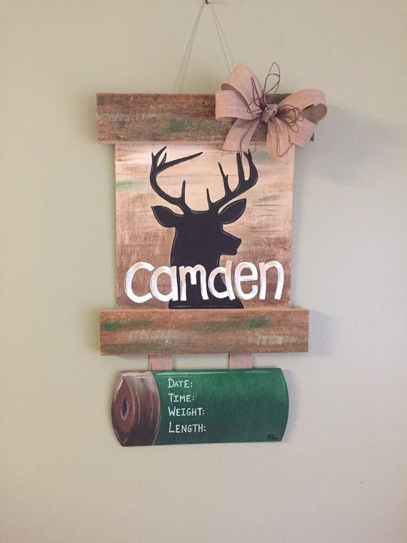 Personalized Handpainted Deer Hospital Door Hanger by Handiwork210