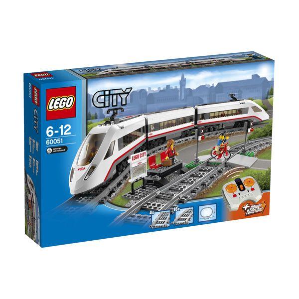Lego City - Tren De Pasajeros De Alta Velocidad;  Viaje alrededor de la ciudad en poco tiempo con el Tren De Pasajeros De Alta Velocidad de LEGO City . Haz funcionar la locomotora con 8 canales, de 7 velocidades de control remoto por infrarrojos... En   http://www.opirata.com/lego-city-tren-pasajeros-alta-velocidad-p-26359.html