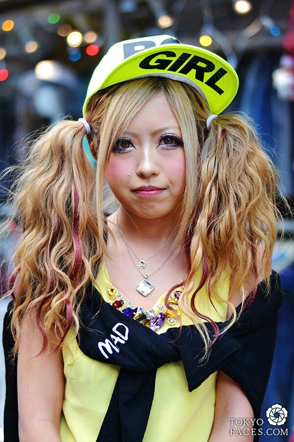 Harajuku Gal W Rainbow Eye Makeup Silver Hair In Anap: 69 Best Gyaru & Kawaii Images On Pinterest