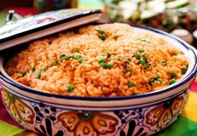 Make Mexican Rice Like the Restaurants Serve: Mexican Red Rice served in a…