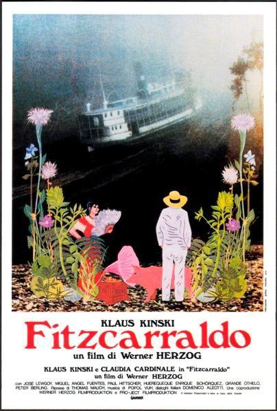 Fitzcarraldo ist ein Film des Regisseurs Werner Herzog und war dessen vierte Zusammenarbeit mit Klaus Kinski. Dieser spielt einen Exzentriker, der im Dschungel ein Opernhaus bauen möchte und dafür scheinbar Unmögliches versucht. Der Film startete am 4. März 1982 in den bundesdeutschen Kinos. Klaus Kinski: Brian Sweeney Fitzgerald – 'Fitzcarraldo'