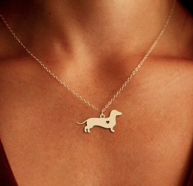 Dachshund Pendant Necklace - Gold or Silver - If you love your dog, this necklace is perfect way to show it.
