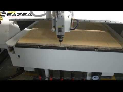 Wood cutting cnc router machine from Seazea in China.