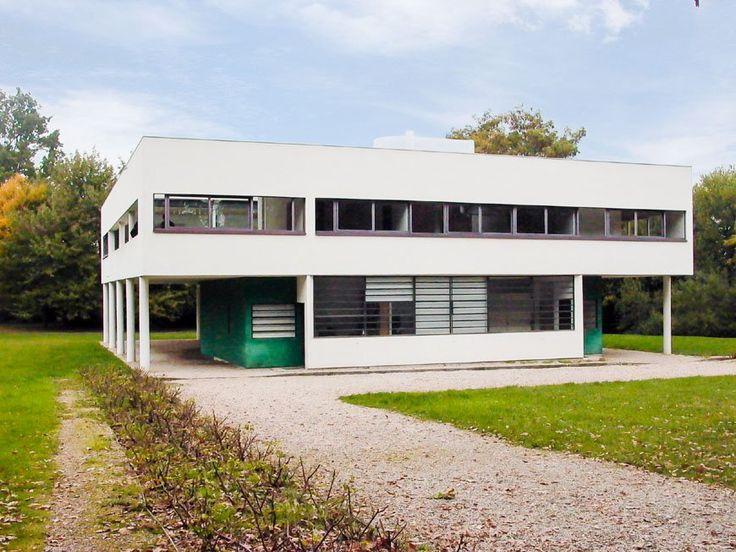 Villa Savoye Le Corbusier from south Inexhibit
