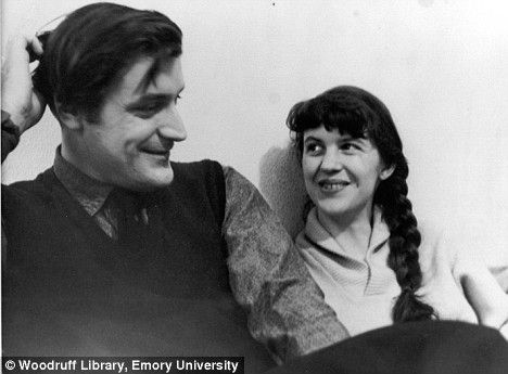 Sylvia Plath with Ted Hughes in a photograph taken circa 1959. Feminists have blamed Hughes' infidelity for Sylvia's suicide