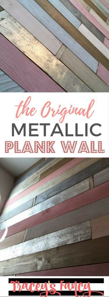 The First Ever Metallic Wood Plank Wall - Traceys Fancy - Girls Nursery Ideas - Feature Wall Ideas - Rustic Glam - Pink, Gold and Silvers trendy family must haves for the entire family ready to ship! Free shipping over $50. Top brands and stylish products