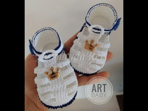 Sandalia de Croche - Profª Fernanda Reis - YouTube