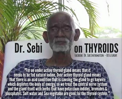 Dr. Sebi on Thyroids!