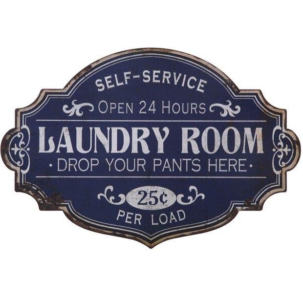 "Metal ""Laundry Room"" Wall Decor"