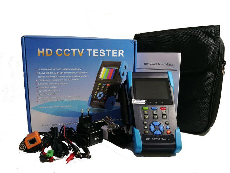 CCTV Camera Tester for: IP camera, network camera, PTZ camera,AHD Camera, cctv security system,Analogh HD camera, TVI, CVI, Hikvision camera, Dahua camera and HDSDI Camera