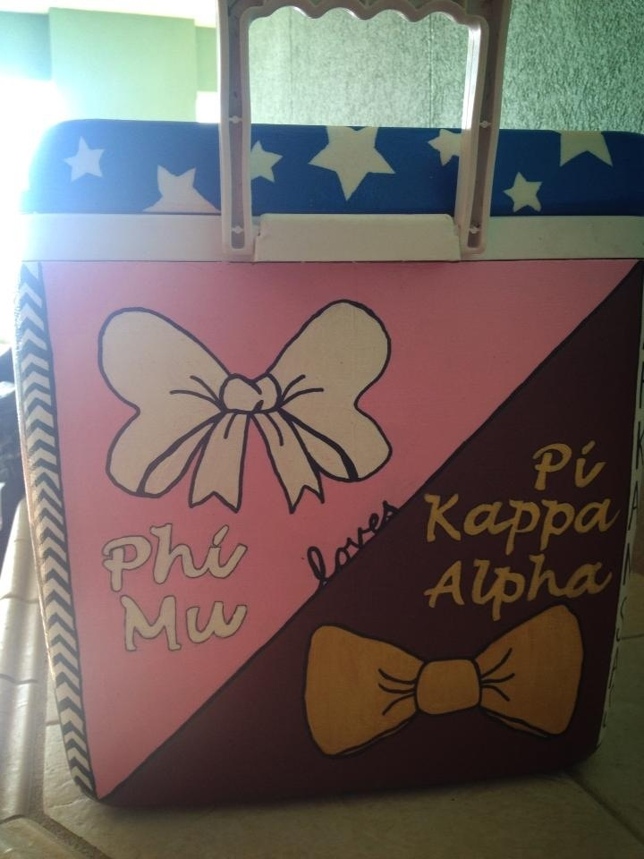 sorority/fraternity cooler love this except with MY letters :)