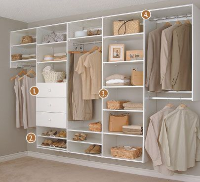 Open Closet Ideas : Open closet  Homeskillet  Pinterest