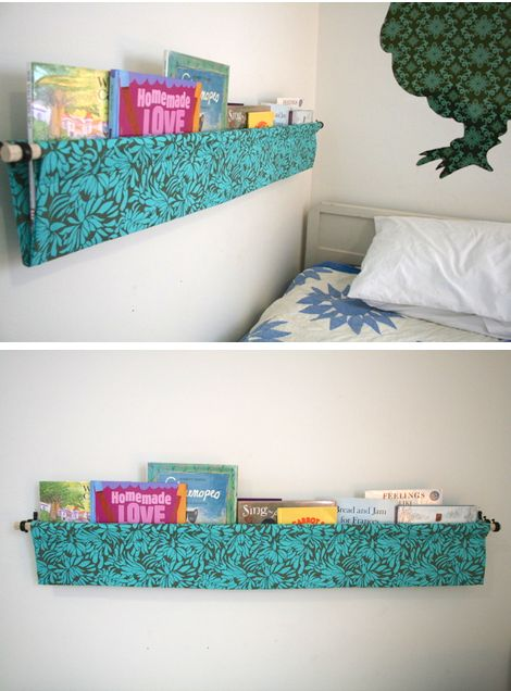 Or make favorite books easy to get to by hanging them right next to the bed. | 40 Smart Tricks To Keep Your Kids Organized