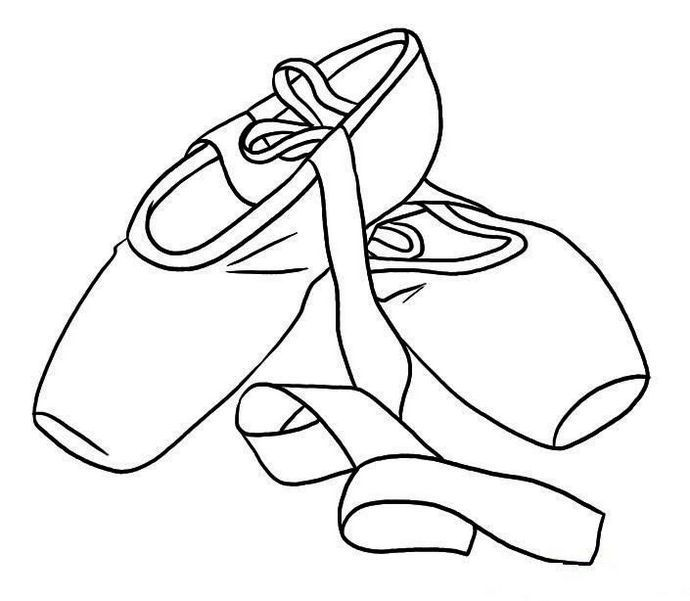 Printable Pointe Ballet Shoes Coloring Sheet. Pencil Drawings TumblrOutline  DrawingsDance ...