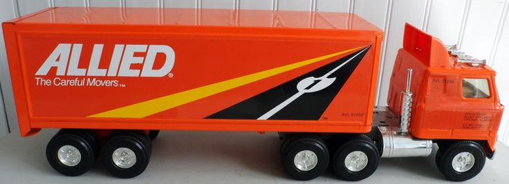 ALLIED MOVING VAN Statue of Liberty Kenworth Cab trailer Ertl Truck 1980's? E5 #Ertl #Kenworth