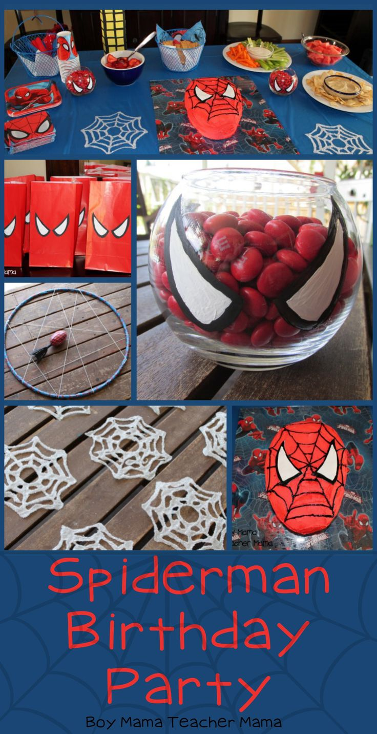 Spiderman Birthday Party We did it! We survived this year's birthday party for my 5 year old.  He wavered for months about the theme, but in the end Spiderman won and we had a wonderful Spiderman ...