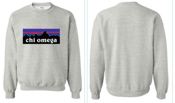 Chi Omega Patagonia Crewneck sweatshirt by karfletch on Etsy, $29.95
