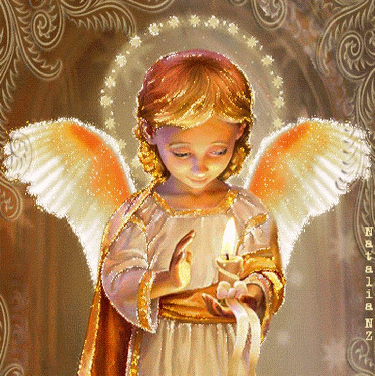 Живые картинки с ангелами