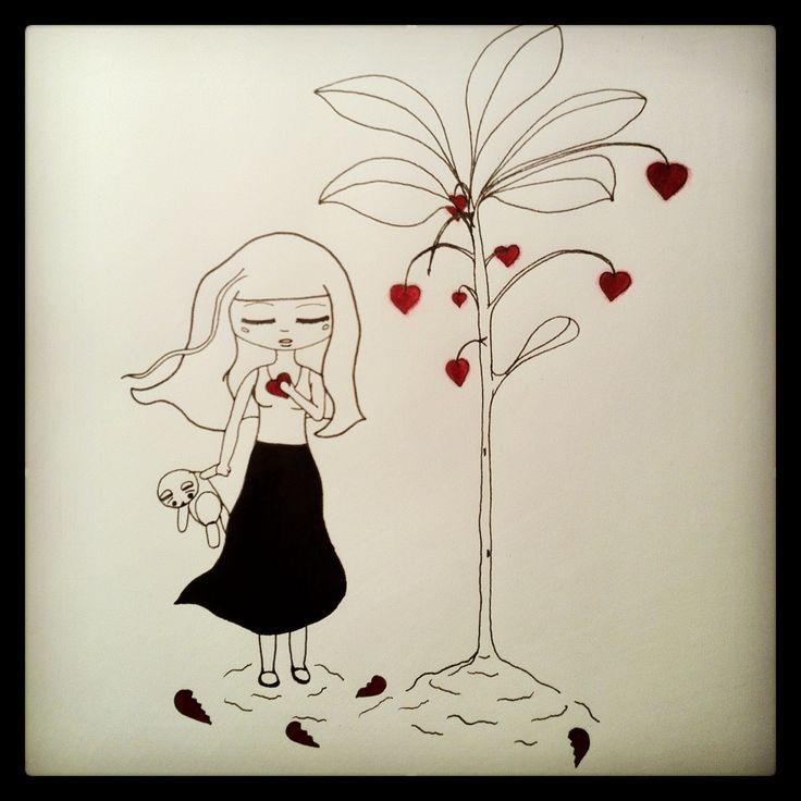 #Little #Girl #Broken #Heart #Innosence #Growth #Drawing