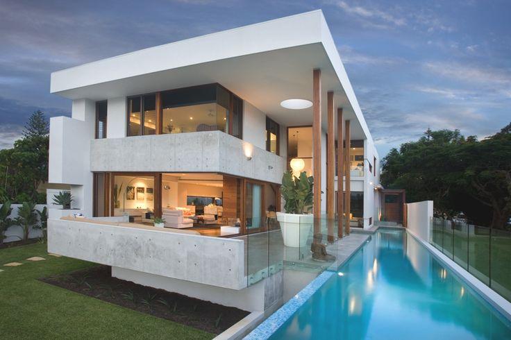 Современный дизайн бассейна в загородном доме - Фото 1