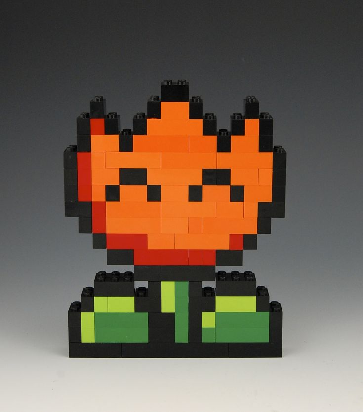 Lego Fire Flower by BrickBum